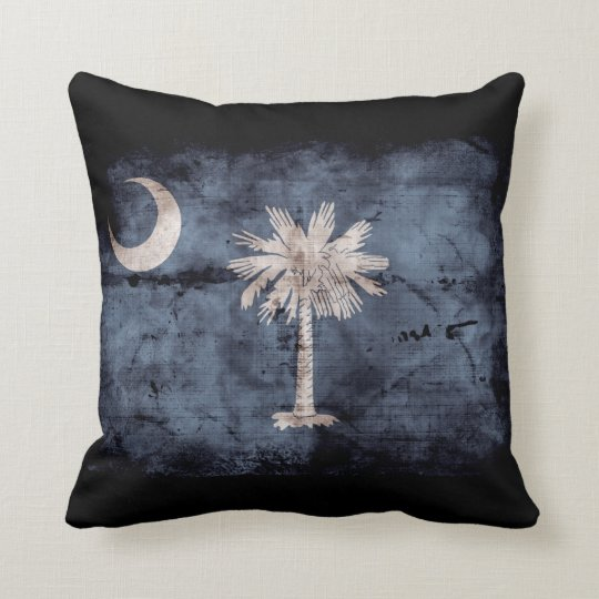 Old South Carolina Flag; Throw Pillow