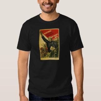 Old Soviet Russian Propaganda Apparel Tee Shirt