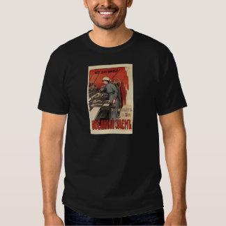 Old Soviet Russian Propaganda Apparel Tee Shirts
