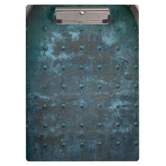 Old Spanish Copper Tarnished Metal Door Clipboard
