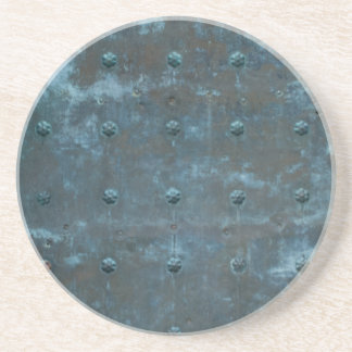 Old Spanish Copper Tarnished Metal Door Coaster