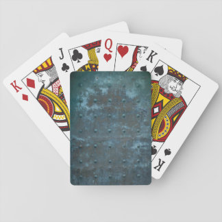 Old Spanish Copper Tarnished Metal Door Playing Cards