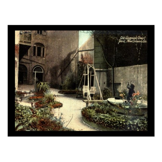 Old Spanish Court Yard, New Orleans Vintage Postcard