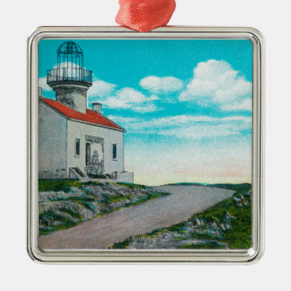 Old Spanish Lighthouse at Point Loma Metal Ornament