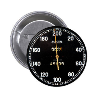 Old speedometer gauge from a vintage race car 2 inch round button