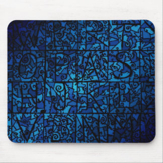 Old stained-glass window mouse pad