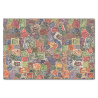 Old Stamps Graphic Tissue Paper
