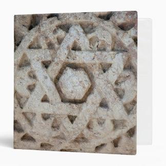 Old Star of David carving, Israel 3 Ring Binder