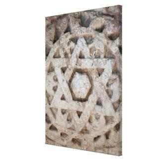Old Star of David carving, Israel Canvas Print