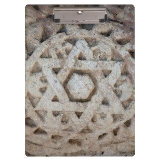 Old Star of David carving, Israel Clipboard