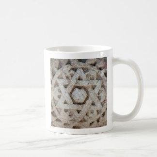 Old Star of David carving, Israel Coffee Mug