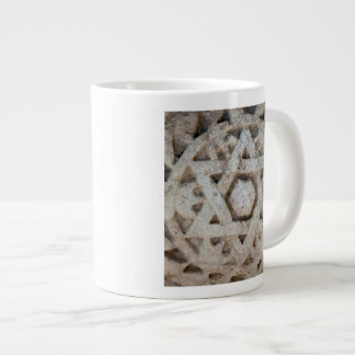 Old Star of David carving, Israel Large Coffee Mug