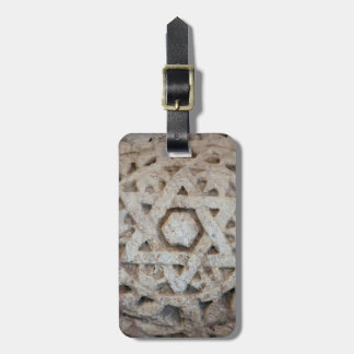 Old Star of David carving, Israel Luggage Tag