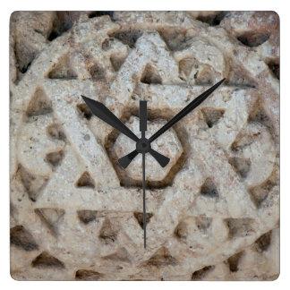 Old Star of David carving, Israel Wall Clocks