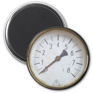 Old Steam Engine Pressure Meter Dial Fridge Magnet