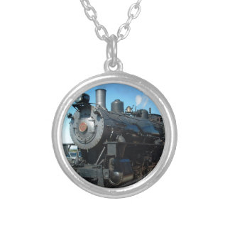 Old Steam Train One of a Kind Photo Shoot Silver Plated Necklace