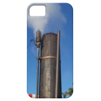 old steam whistle with a white plume of steam iPhone 5 cases