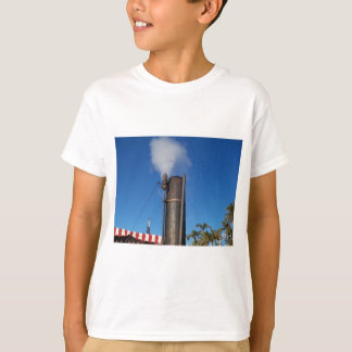 old steam whistle with a white plume of steam T-Shirt