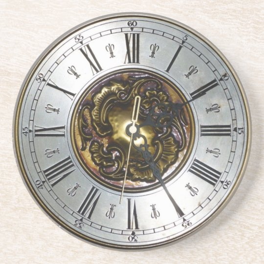 Old steampunk clock design accessoires, vintage coaster