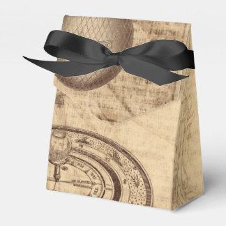 old steampunk parchment favor box