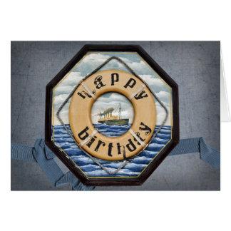 Old Steamship Birthday Card