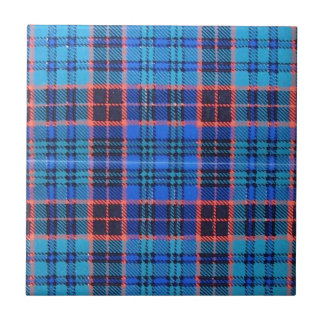 OLD STEWART FAMILY TARTAN TILE