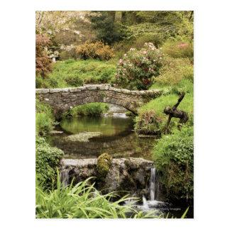 Old Stone Bridge Over A Stream In Dartmoor Park Postcard