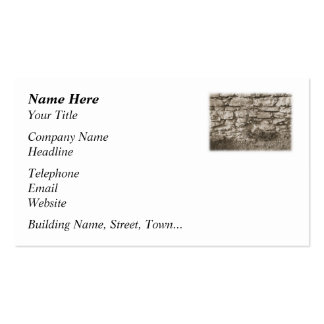 Old Stone Garden Wall. Sepia Color. Business Card