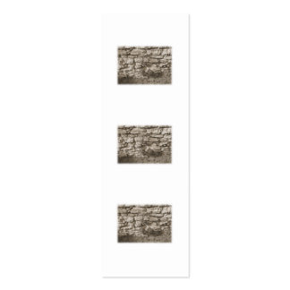 Old Stone Garden Wall. Sepia Color. Mini Business Card
