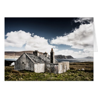 Old stone hut by the sea card
