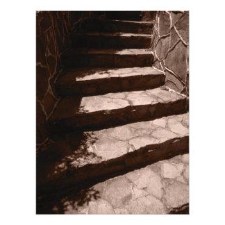 old stone steps photo print
