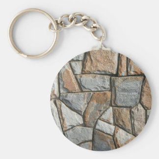 Old stone wall structure keychain