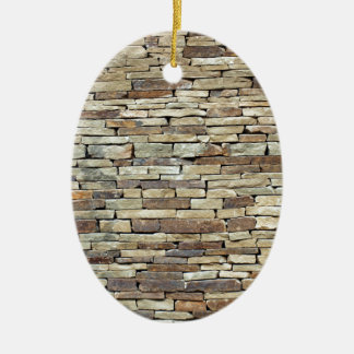 Old stone wall texture ceramic ornament