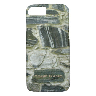 Old Stone Wall with Name iPhone 7 Case