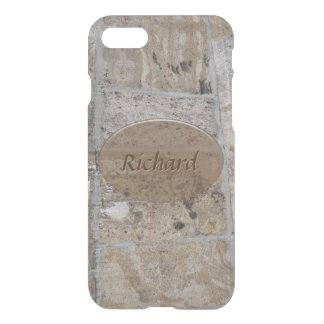 Old Stone Wall with Your Name or Text iPhone 8/7 Case