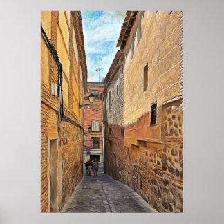 Old street in Toledo Poster