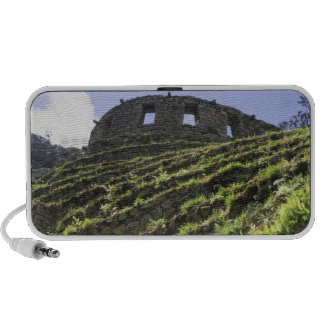 Old structure at top of steep hill iPhone speaker