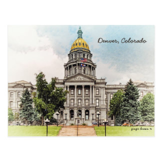 Old Style, Colorado State Capitol Bldg, Denver, CO Postcard