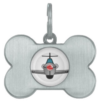 Old Style Fighter Aircraft Pet ID Tags