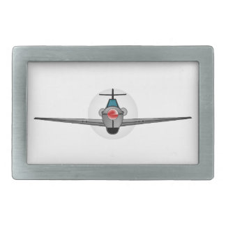 Old Style Fighter Aircraft Rectangular Belt Buckle