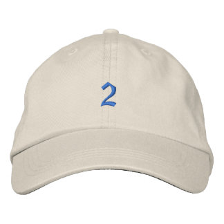 Old Style Number 2 Embroidered Hats