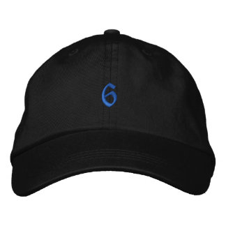 Old Style Number 6 Embroidered Hat