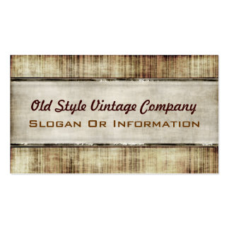 Old Style Vintage Business Cards