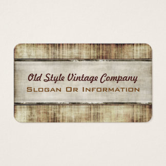Old Style Vintage Popular Rounded Business Cards