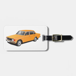 Old Swedish car from early 70's Luggage Tag