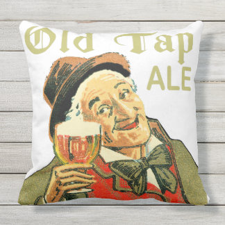 Old Tap Ale Outdoor Pillow