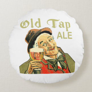 Old Tap Ale Round Pillow