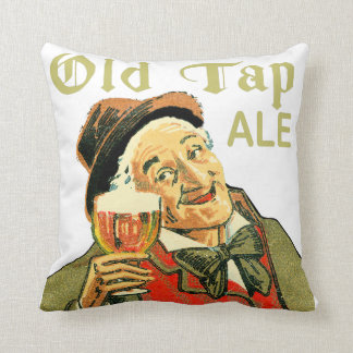 Old Tap Ale Throw Pillow
