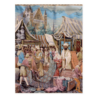 old tapestry postcard