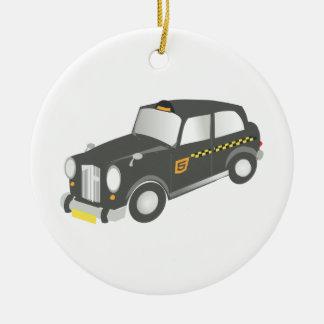 Old Taxi Ceramic Ornament
